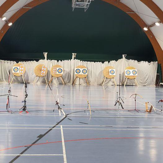 Indoor archery at Akeley Wood